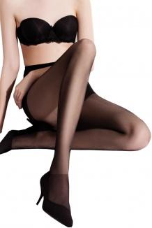 Collant fantaisie grande taille noir femme forte - Chantal Adrian 971c594ec72