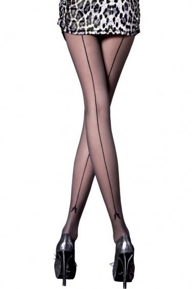 Miriam - Collant sexy à couture 20 deniers - Fiore