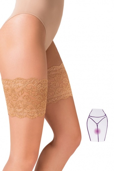 Thigh Band - Bas Up Grandes Tailles anti friction - Gabriella