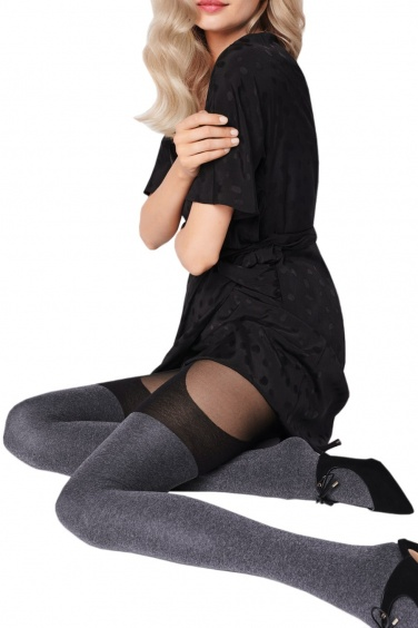Segnorina - Collant Taille 5 effet Bas Jarretelles - Fiore