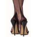 Point Heel - Authentique Bas Nylon Noir à Couture - Gio