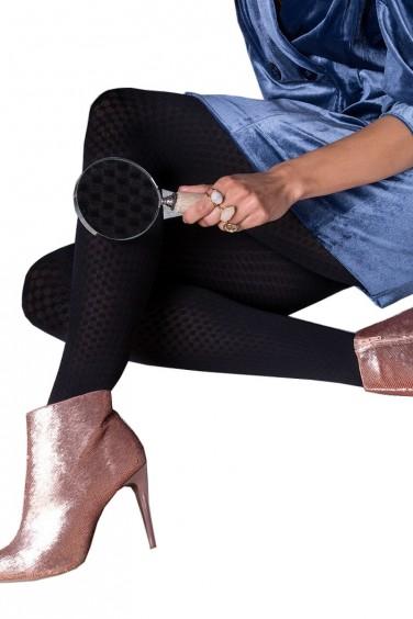 Jenny - Collant taillle 5 Opaque à motifs - Gabriella -
