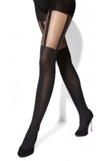 Noir Côté Jambe à motif épais 50 den XL XXL Plus taille hiver femmes Collants T183