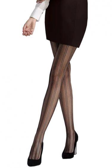 Pour un look Sexy Collant Résille Noire à Maille Fine - Passion