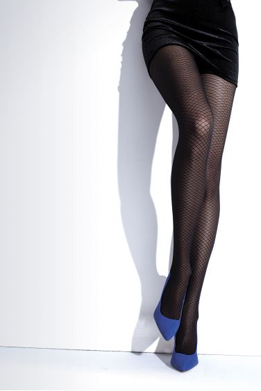 Kimberley - Collant XL pour Femme Ronde Motif Résille - Knittex