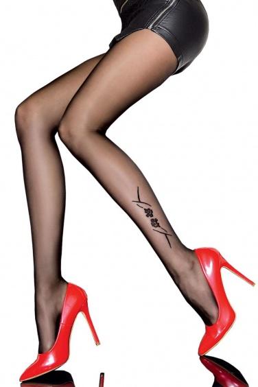 Collants fantaisie effet tatouage - Fiore