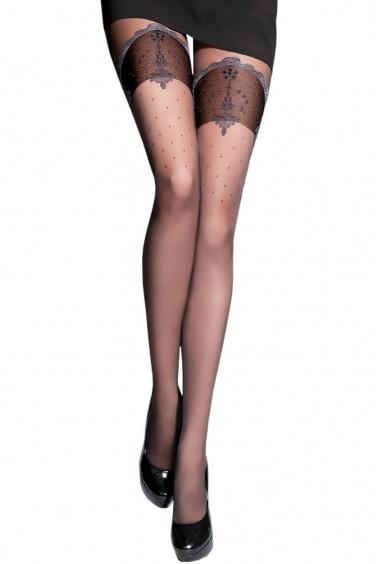 Gloria - Collant sexy effet bas couture - Gabriella